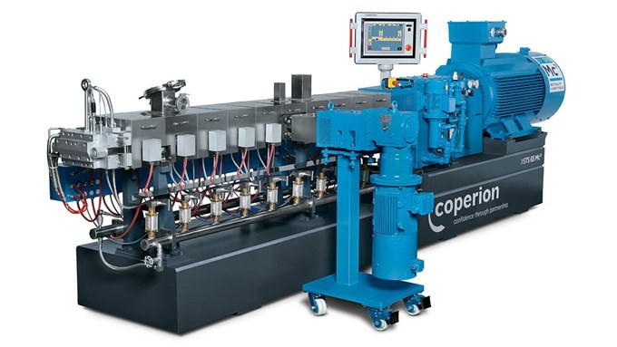 Coperion twin screw extruder STS 65 Mc11