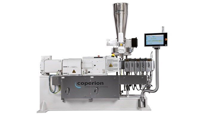 Coperion twin screw extruder ZSK 34 Mv feeder