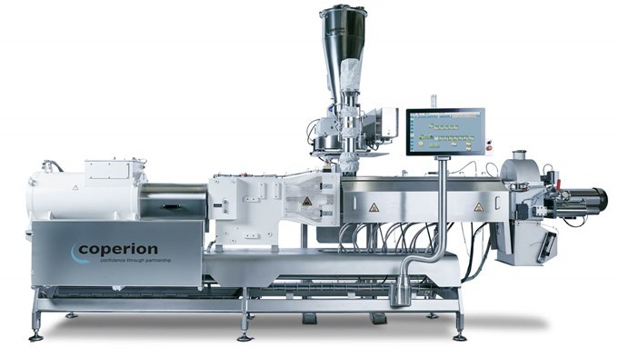 Coperion twin screw extruder ZSK 54 Mv frontal