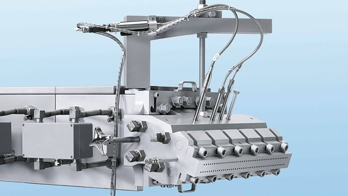 Coperion twin screw extruder ZSK 82 Mc18 Die Head