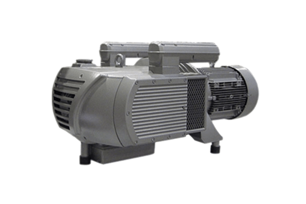 Rotary Vane Vacuum Blower shown with optional in-line static filter