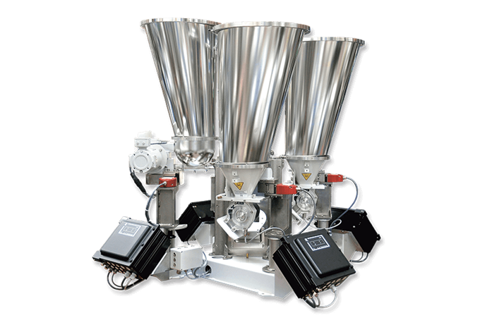 Coperion K-Tron K4G Continuous Gravimetric Blender with BSP Bulk Solids Pumps