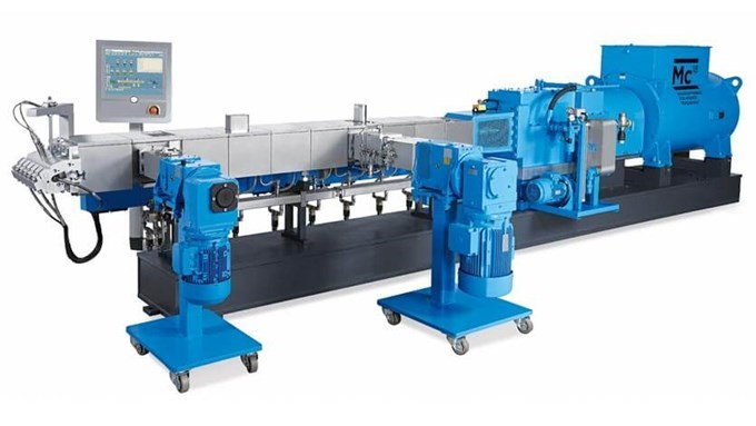 Coperion twin screw extruder ZSK 82 Mc18 backside