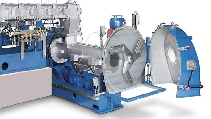 Coperion eccentric pelletizer EGR - for the production of temperature and shear-sensitive plastics