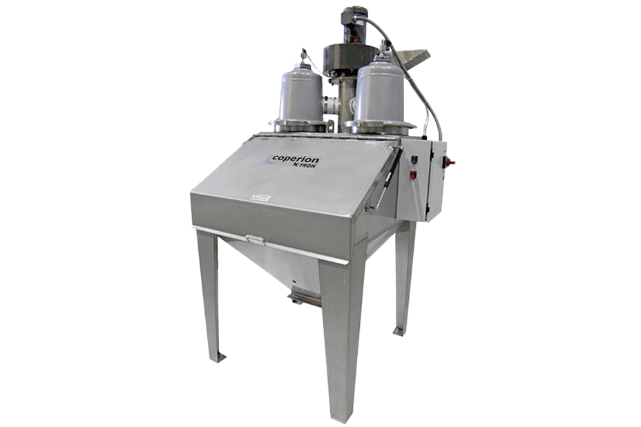Coperion K-Tron bag dump station with integral dust control