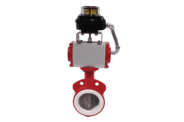 Air operated butterfly gate valve