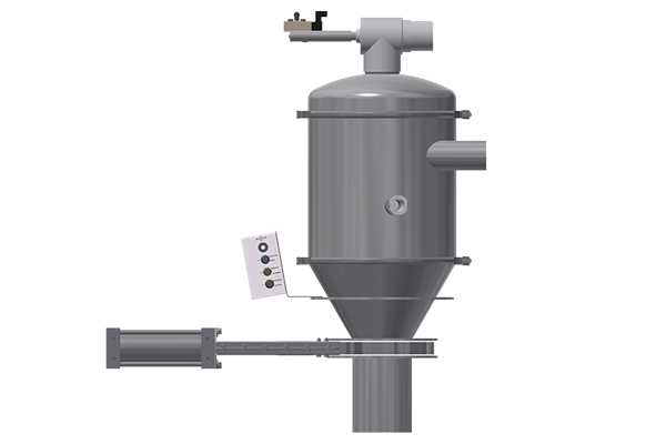 2415 Pellet Receiver with Slide Gate valve for feeder refill