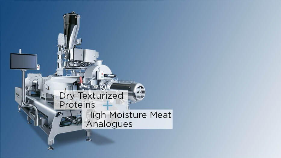 ZSK food extruder hybrid for TVP and HMMA